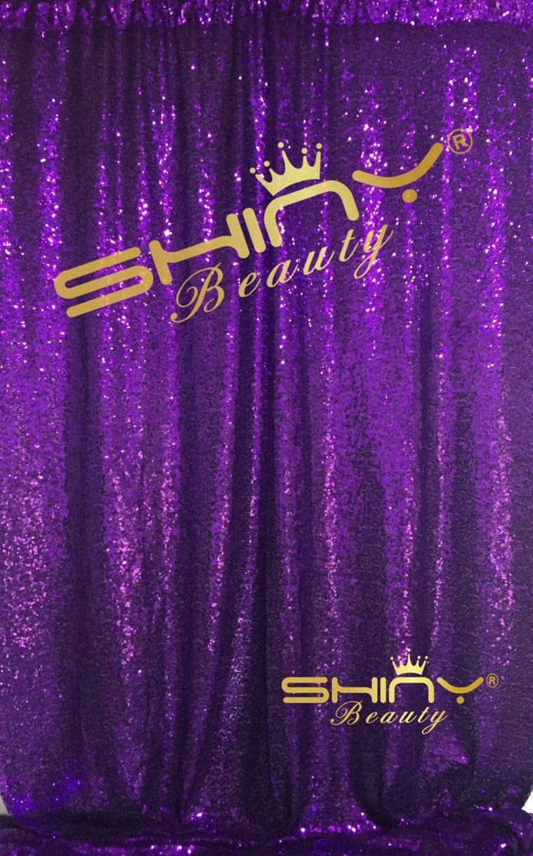 ShinyBeauty-Sequin-Curtain-Backrop-12FTx12FT-Purple, Glitz Photography Background, Fast Shipping! by ShinyBeauty