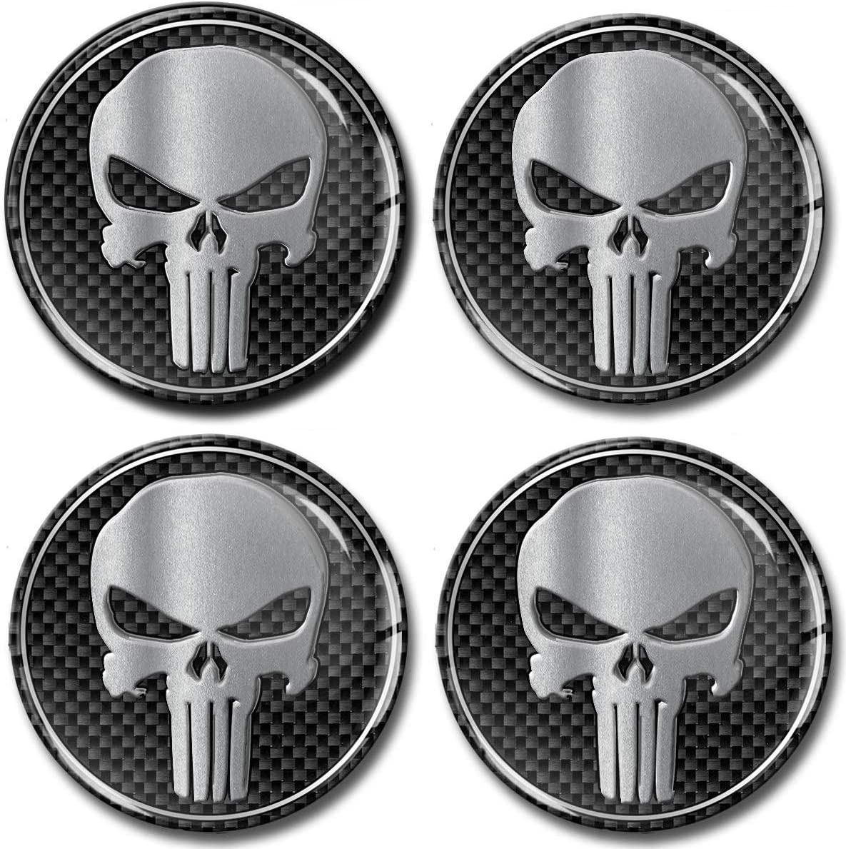 4 x 50mm 3D Stickers for Wheel Center Caps A 250