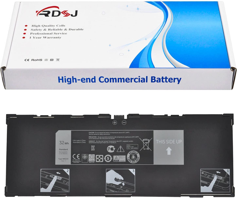 9MGCD Laptop Battery for Dell Venue 11 Pro (5130) Tablet T8NH4 0T8NH4 XMFY3 312-1453 VYP88 7.4V 32Wh