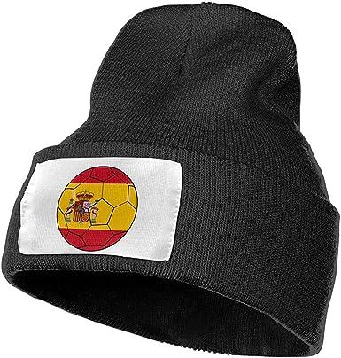 Hombres Mujeres España Balón de fútbol Bandera Sombrero de Gorros de Punto cálidos al Aire Libre Gorros de Punto de Invierno Suave: Amazon.es: Ropa y accesorios