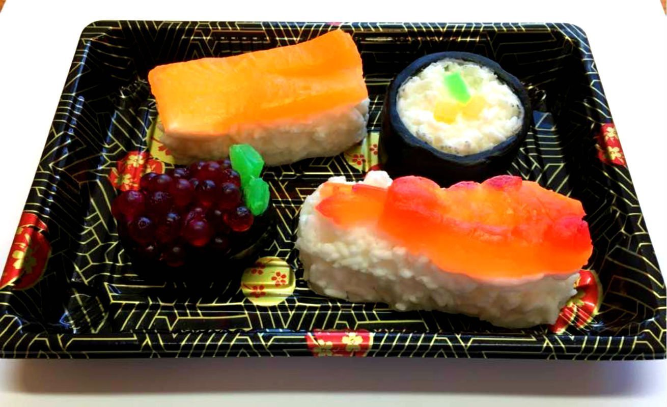 Sushi Soap Set - Food Soap, Gag Gift, Shrimp Soap, California Roll - FEATURED IN HUFFINGTON POST 2018