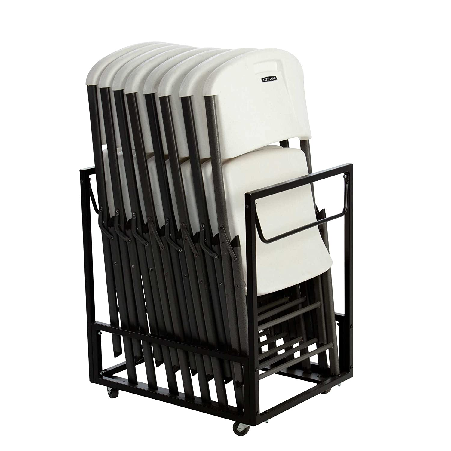 Amazon Lifetime Rolling Residential Chair Cart Black