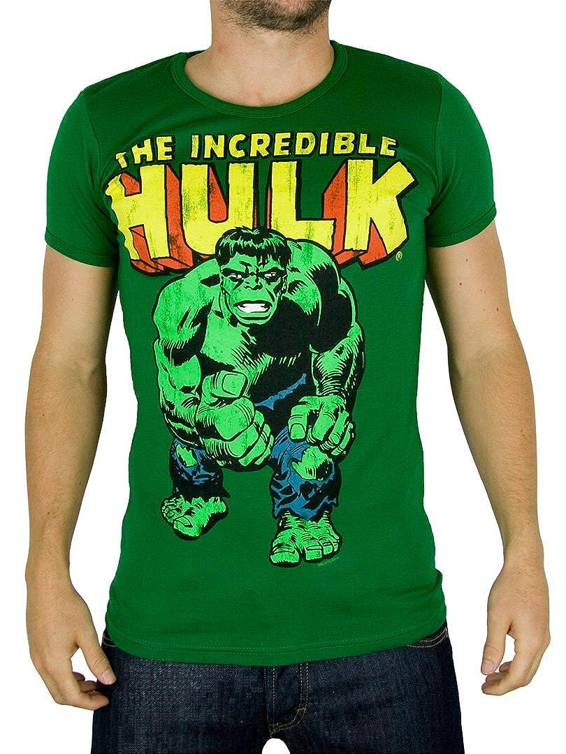 Vert Logoshirt Homme Marvel Hulk T-shirt