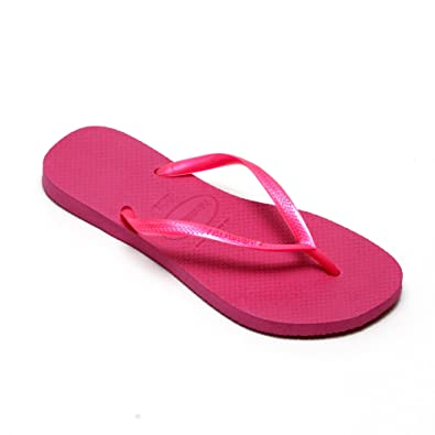 7c3ff2cacb79 New Havaianas Slim Pink Rose Strap Flip Flops Thongs Brazil Rubber Sandals  Beach By Anandashop