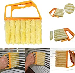 Mini 7 Hand Held Microfibre Venetian Blind Brush Window Air Conditioner Duster Dirt Clean Cleaner /