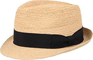 Win A Free Unisex Summer Panama Raffia Straw Fedora Beach Casual Sun...