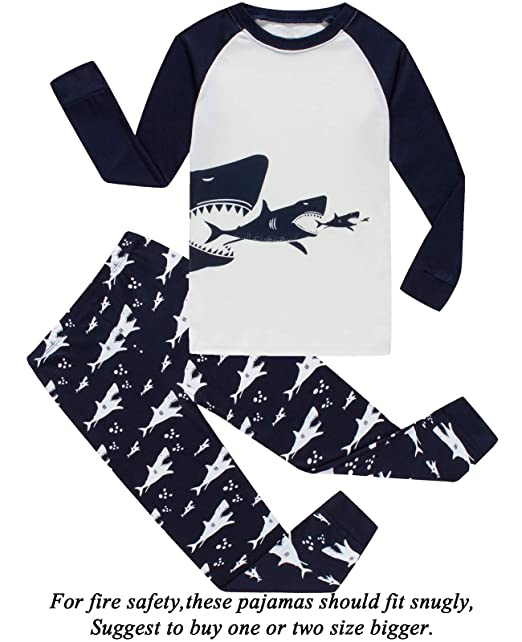 ca983ce3493e Amazon.com  Dolphin Fish Boys Christmas Pajamas Little Kids Pjs Sets ...
