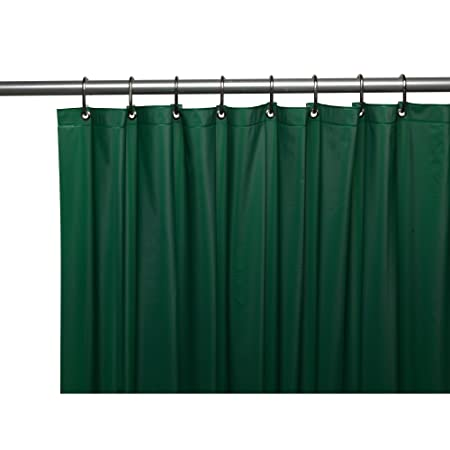 Amazon Carnation Home Fashions Premium Quality Vinyl Shower Curtain Liner Dark Green Kitchen