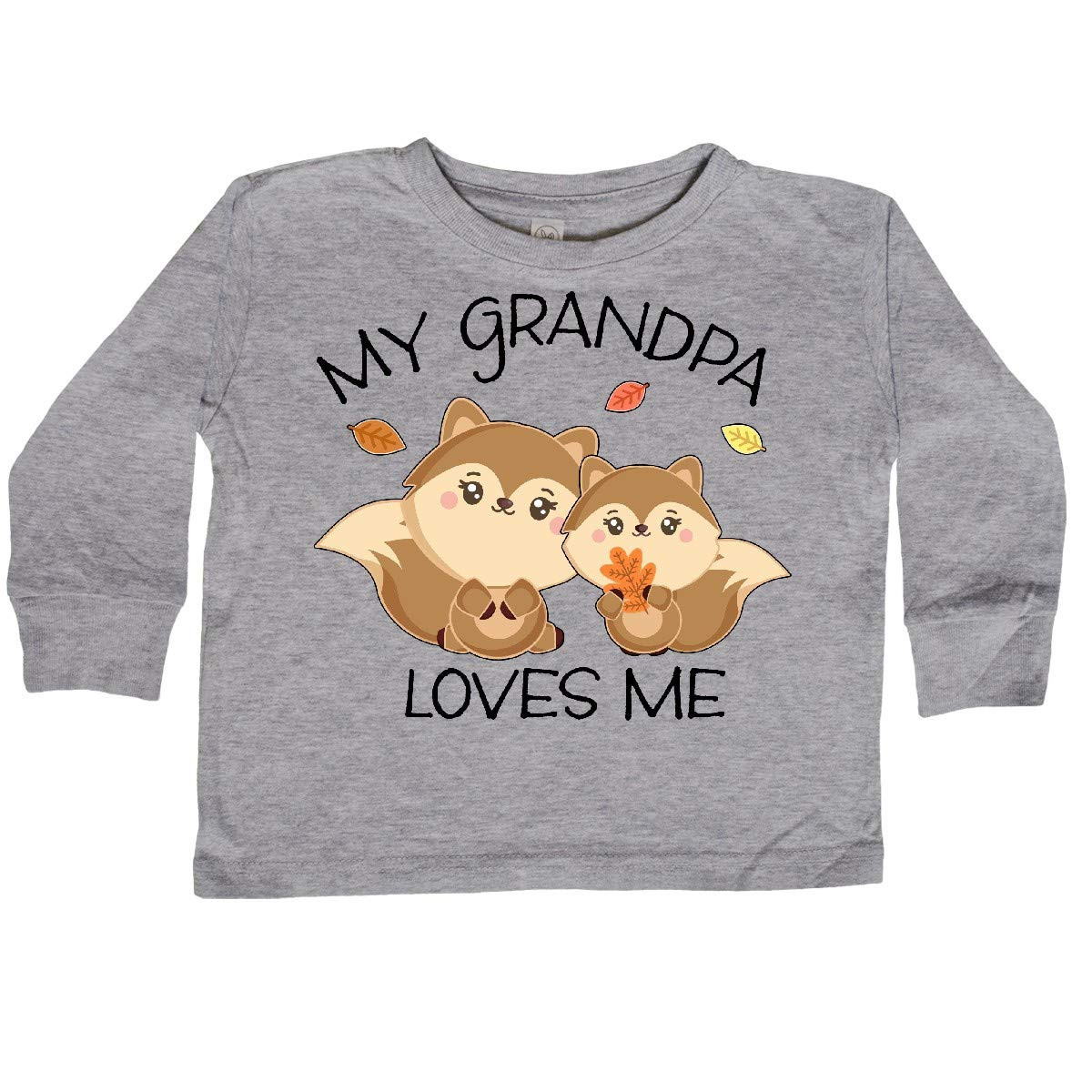 inktastic My Granpa Loves Me with Bunny and Easter Toddler Long Sleeve T-Shirt