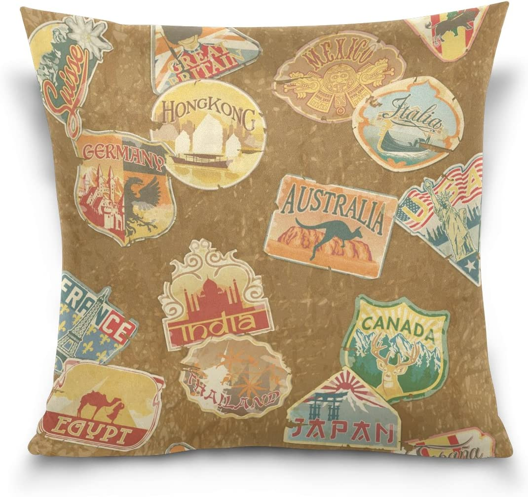18x18 Square Throw Pillow Case Cover