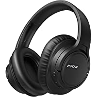 [Upgraded] Mpow H7 Pro Bluetooth 5.0 Headphones Over-Ear, Fast Charge, Wireless Headphones with Hi-Fi Stereo Sounds and Bass, CVC6.0 Noise Reduction with Mic, 20Hrs Playtime for Phone/PC/Tablets, Black