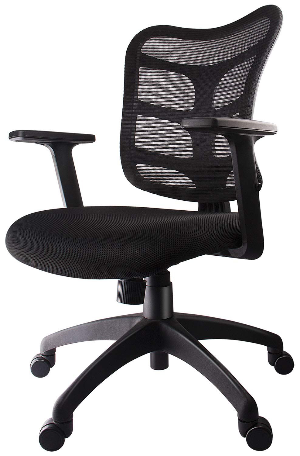 Smugdesk 0581F Ergonomic Office Mesh Computer Desk Swivel Task Chair with Adjustable Armrests, Black