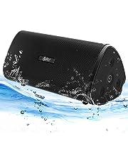 Enceinte Bluetooth 4.2 Portable AY étanche 30W Haut-Parleur Audio HD Basses Amplifiées,Technologie TWS, Autonomie 24H, étanchéité IPX7, Idéal la Maison, Camping,l'extérieur Les Voyages.(Black)