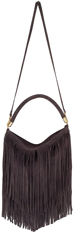 Handbag Bliss Italian Genuine Suede Tassel Slouch Handbag Shoulder Bag (New  Style) (Ivory/ Beige): Amazon.co.uk: Shoes & Bags