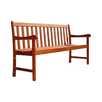 Outdoor Eucalyptus Wood Nobi 5u0027 Bench