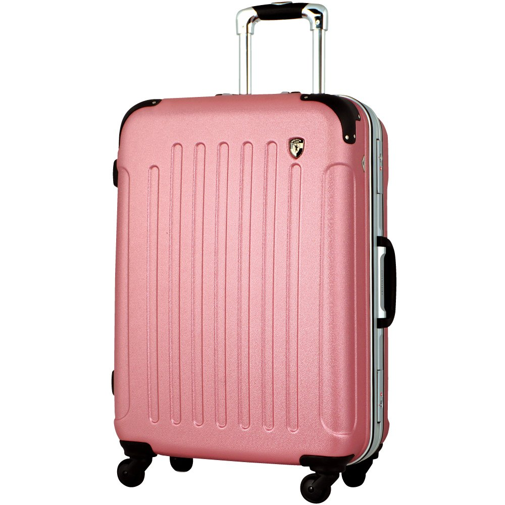 [グリフィンランド]_Griffinland TSAロック搭載 スーツケース 軽量 アルミフレーム エンボス加工 newTSA1037-1 フレーム開閉式 B002BMUENS M(中)型|ローズ ローズ M(中)型