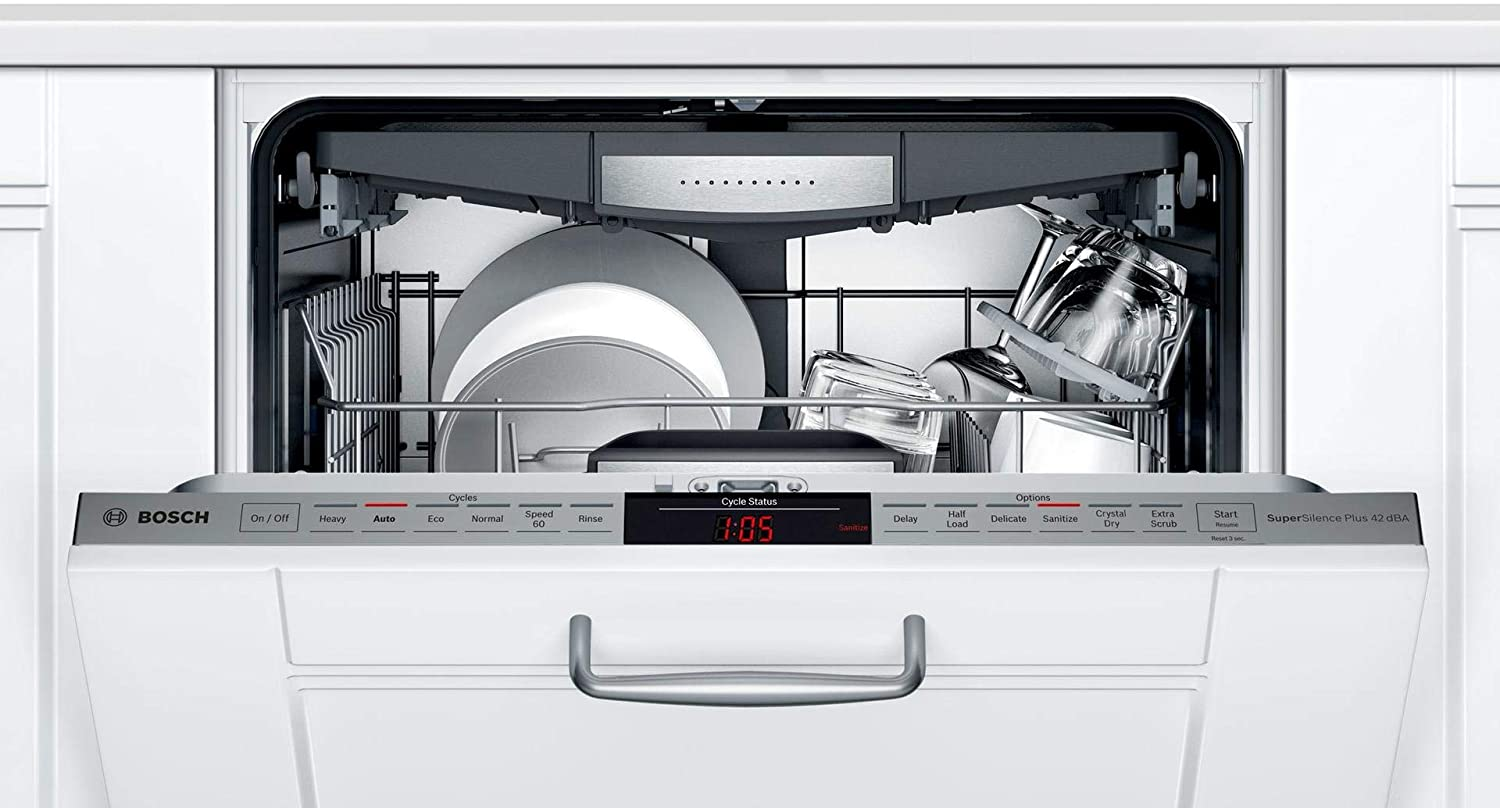 Flexible 3rd Rack Bosch SHV878ZD3N 24 800 Series Fully Integrated Dishwasher with 16 Place Settings InfoLight and CrystalDry in Panel Ready