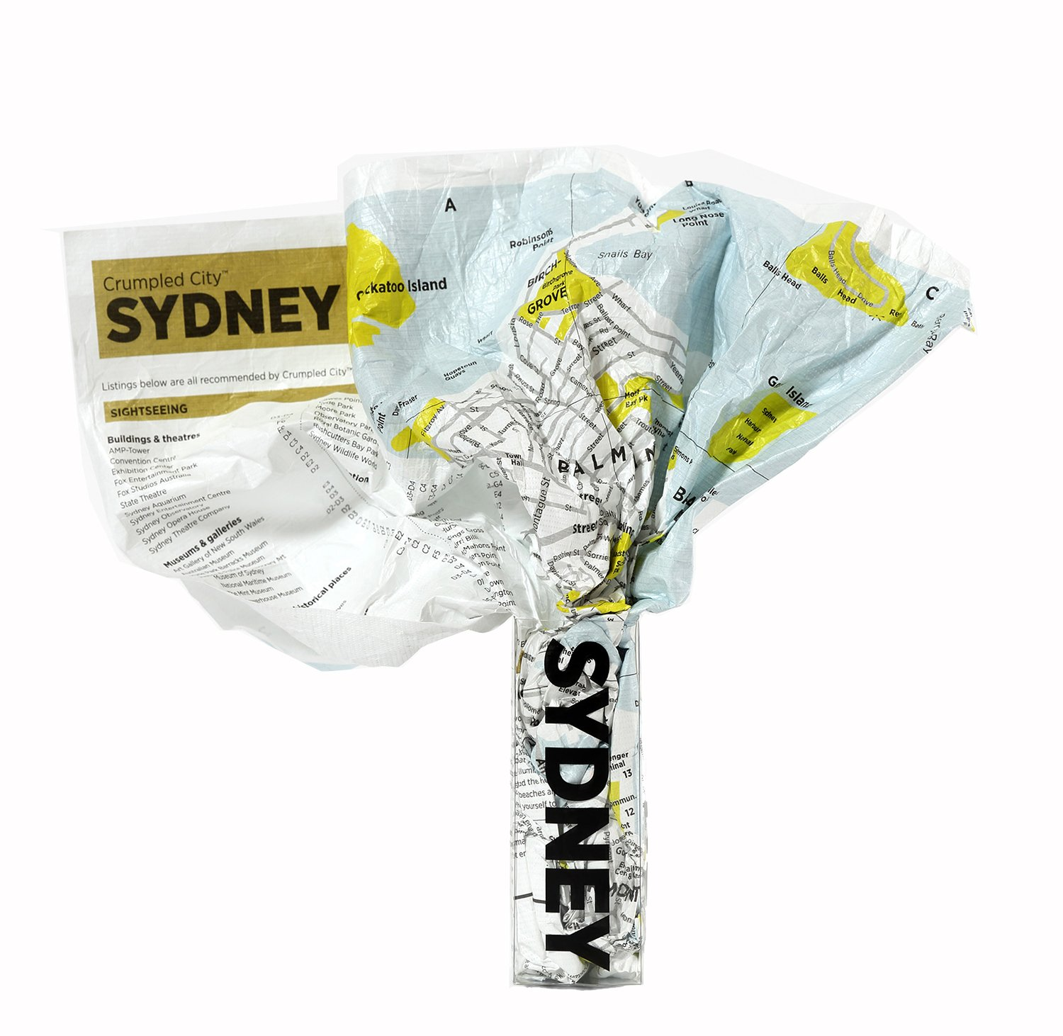 Crumpled city map. Sydney. Ediz. multilingue Crumpled City Maps Palomar (Firenze) 9788890573248 Australia
