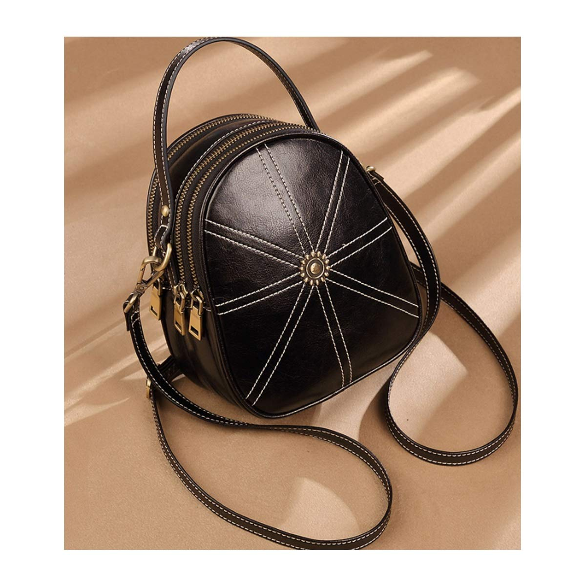 Color : Black Xingganglengyin Backpack Female 2018 New Korean Version of The Wild Fashion Mini 2019 Leather Soft Leather Ladies Small Backpack