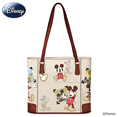 Disney Retro Mickey Mouse Women s Handbag With Gold-Toned Charm by The  Bradford Exchange  Handbags  Amazon.com a1e5ef106ce2c