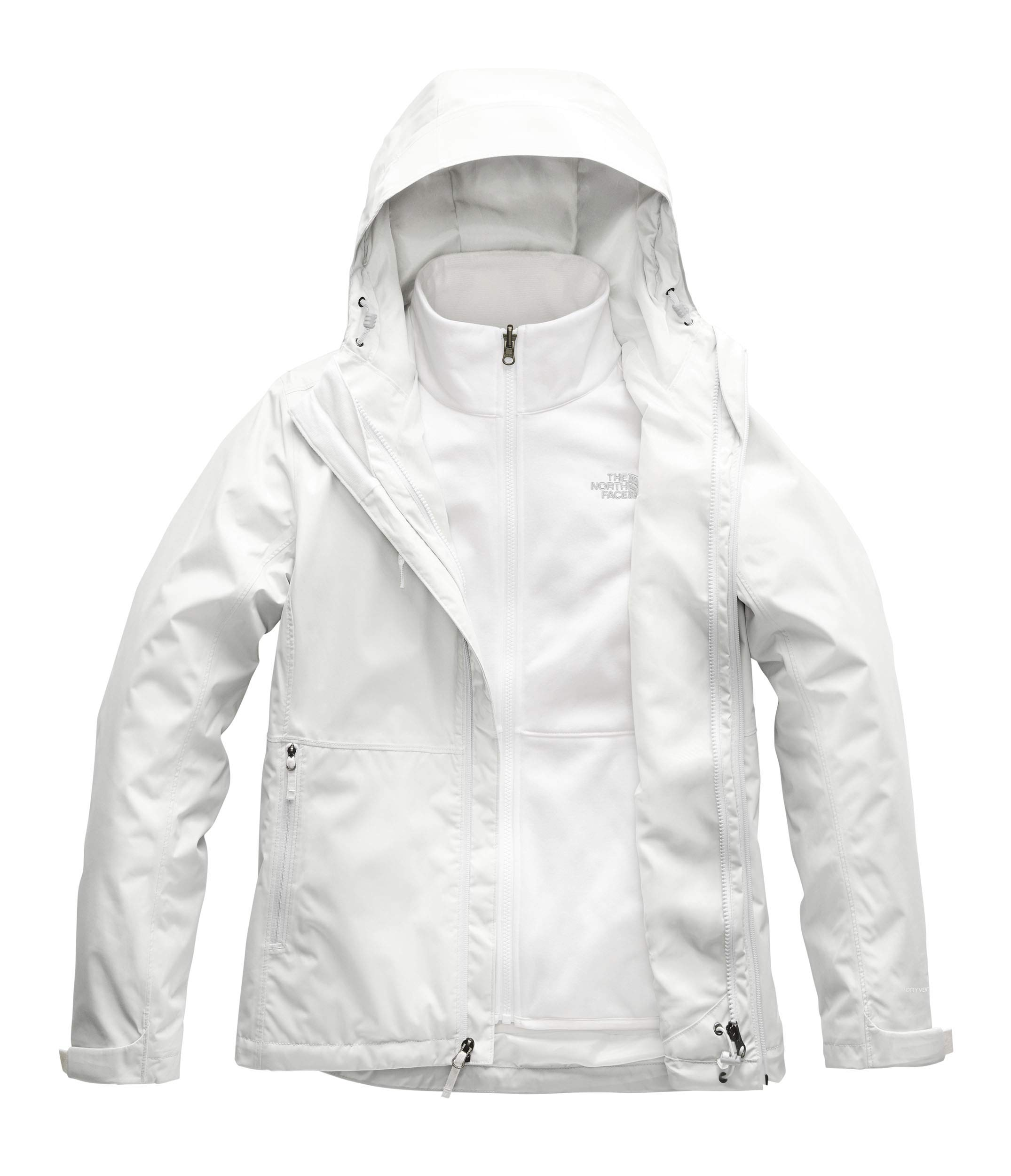 The North Face Women's Arrowood Triclimate Jacket, Tin Grey/TNF White, X-Large by The North Face