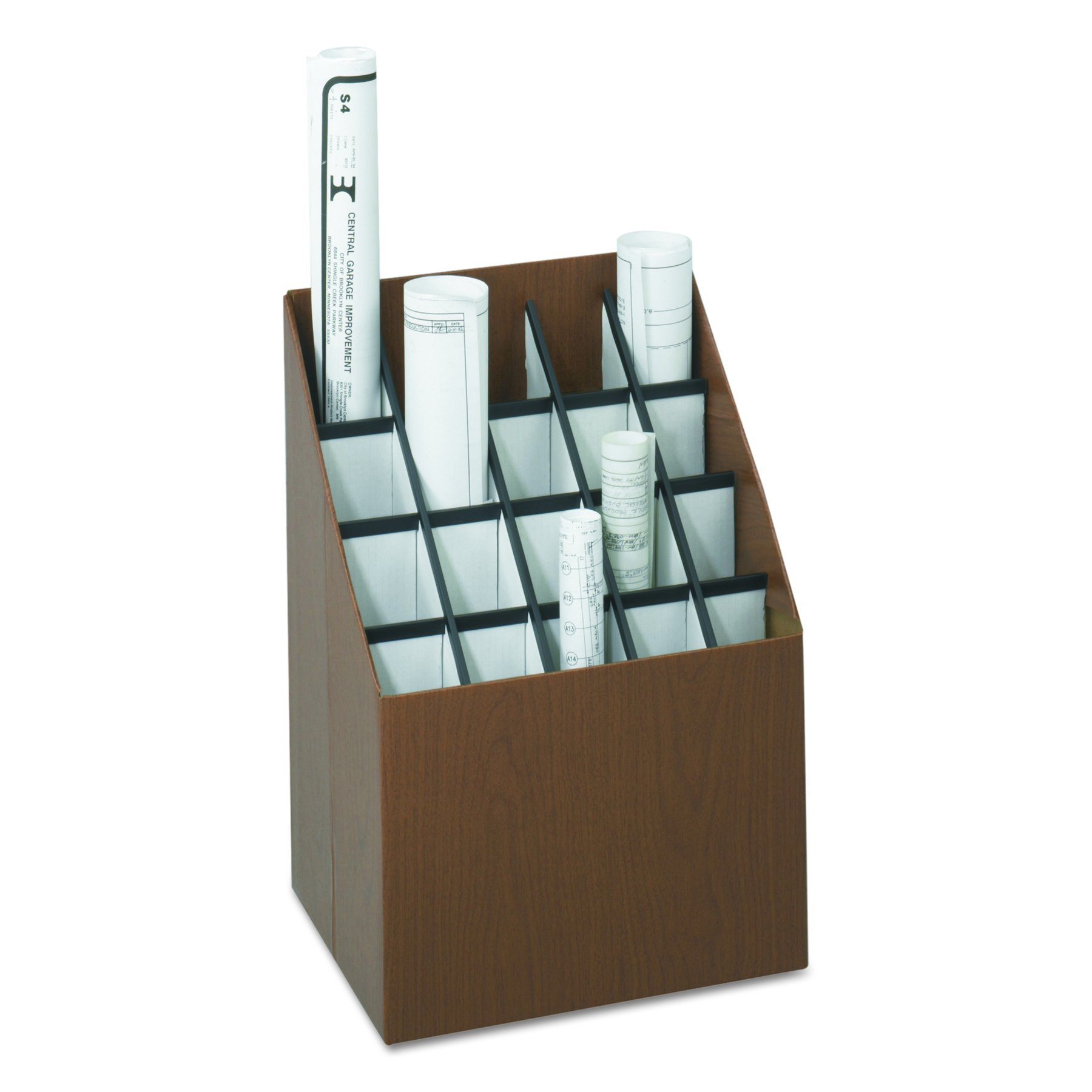 Safco Products 3081 Vertical Roll File, 20 Compartment, Walnut by Safco Products (Image #3)