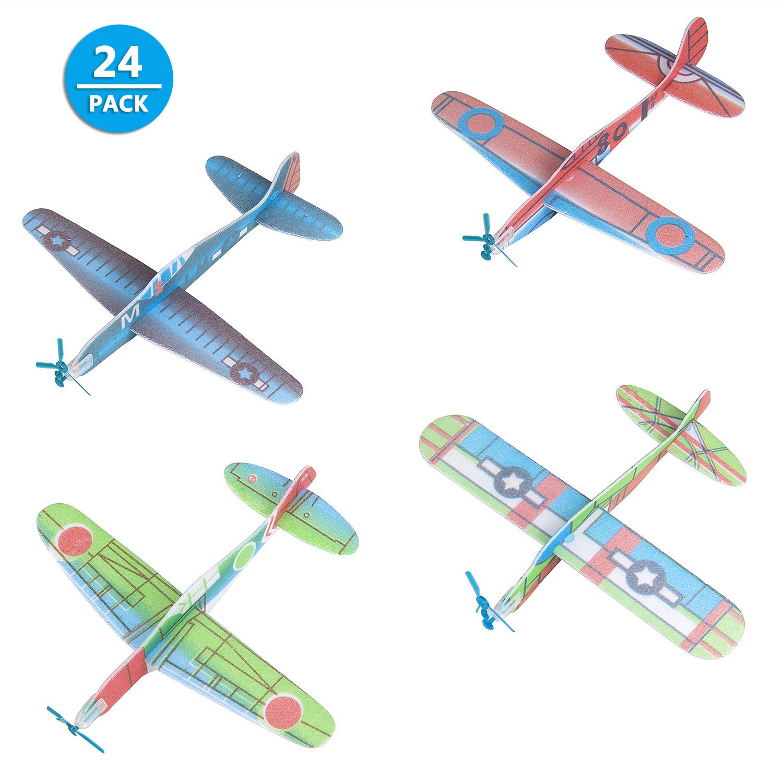 Comius 24 Pack Avion Polystyrene, 19 cm Planeurs Styrofoam pour Garçons et Filles
