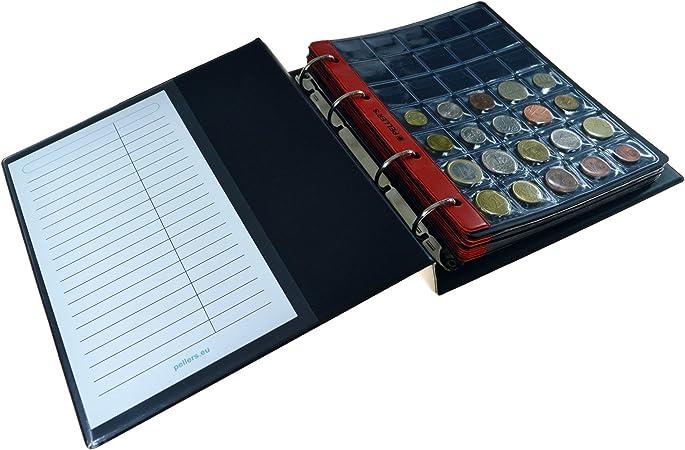 PELLERS Álbum de colección M, para 186 Monedas de tamaño Mix: Grande, Muy Grande, Mediano y pequeño, 10 Fundas y cartulinas separadoras. (Modelo M): Amazon.es: Hogar