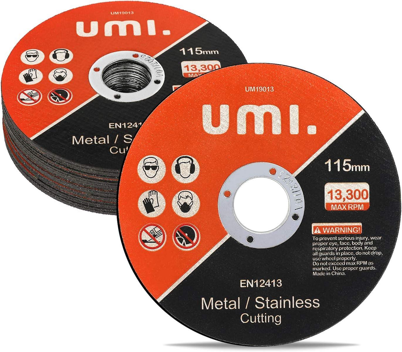 Umi. by Amazon- Discos de Corte, 20 Pedazos, 115 mm x 1.2 mm x 22 mm, para Metal y INOX