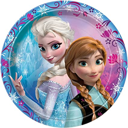 6 7/8u0026quot; Disney Frozen Dessert Plates ...  sc 1 st  Amazon.com & Amazon.com: 6 7/8