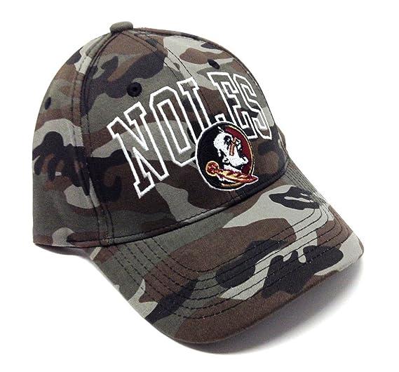 NCAA Wide Out Grey Camo Adjustable Hat (FSU - Florida State University -  Seminoles) ab4e6ecf25e0