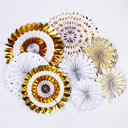 Amazon Zooyoo Hanging Paper Fans Fiesta For Party Supplies