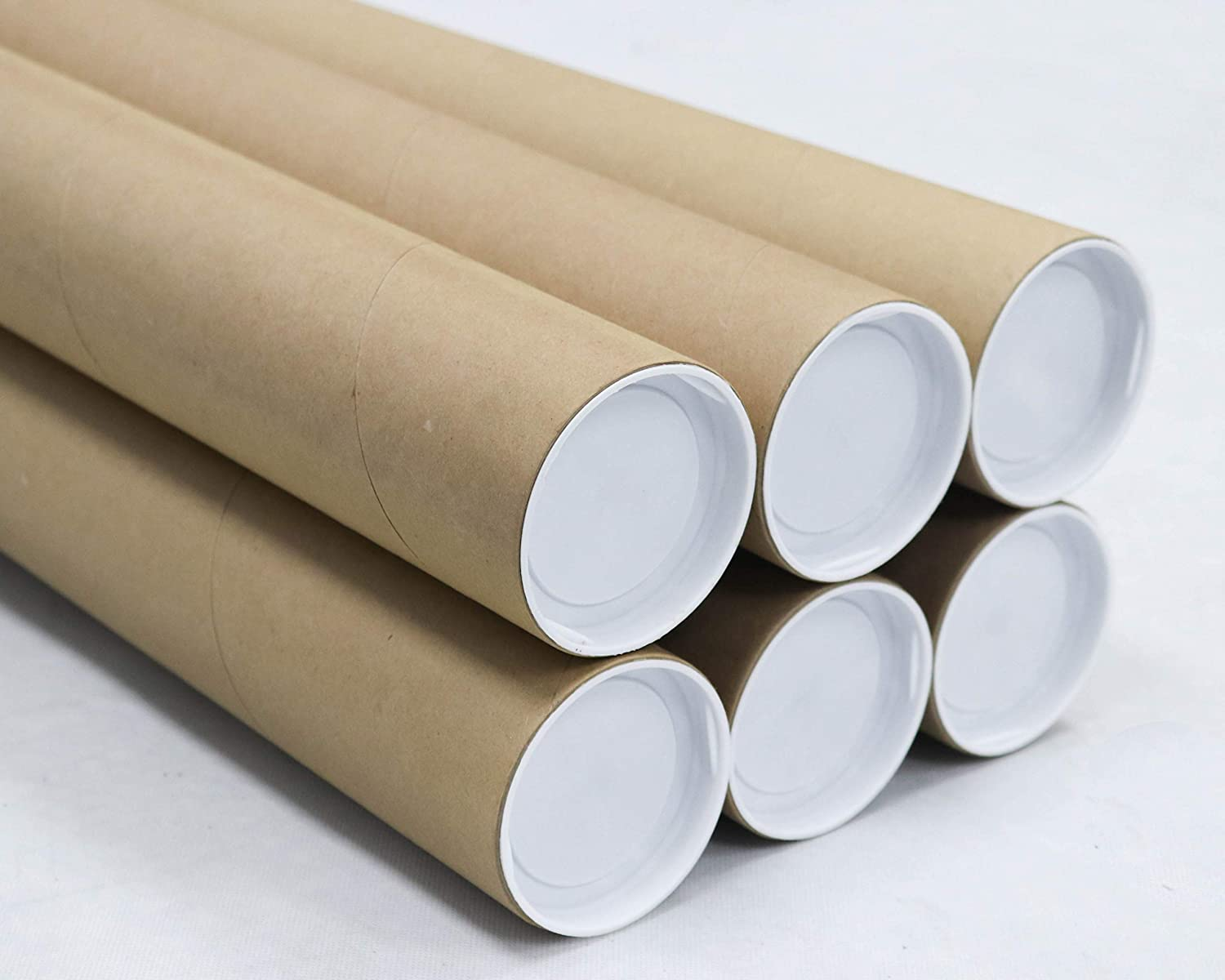 3 inch x 30 inch, Mailing Tubes with Caps (6 Pack) | MagicWater Supply