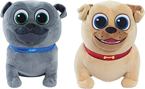 Disney Junior Cachorro Perro Pals aventura Pals Peluche-Rolly o Bingo Nuevo