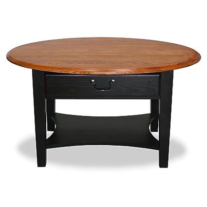 Leick Meubles Table Basse Ovale, Bois Dur, Ardoise, 91 cm ...
