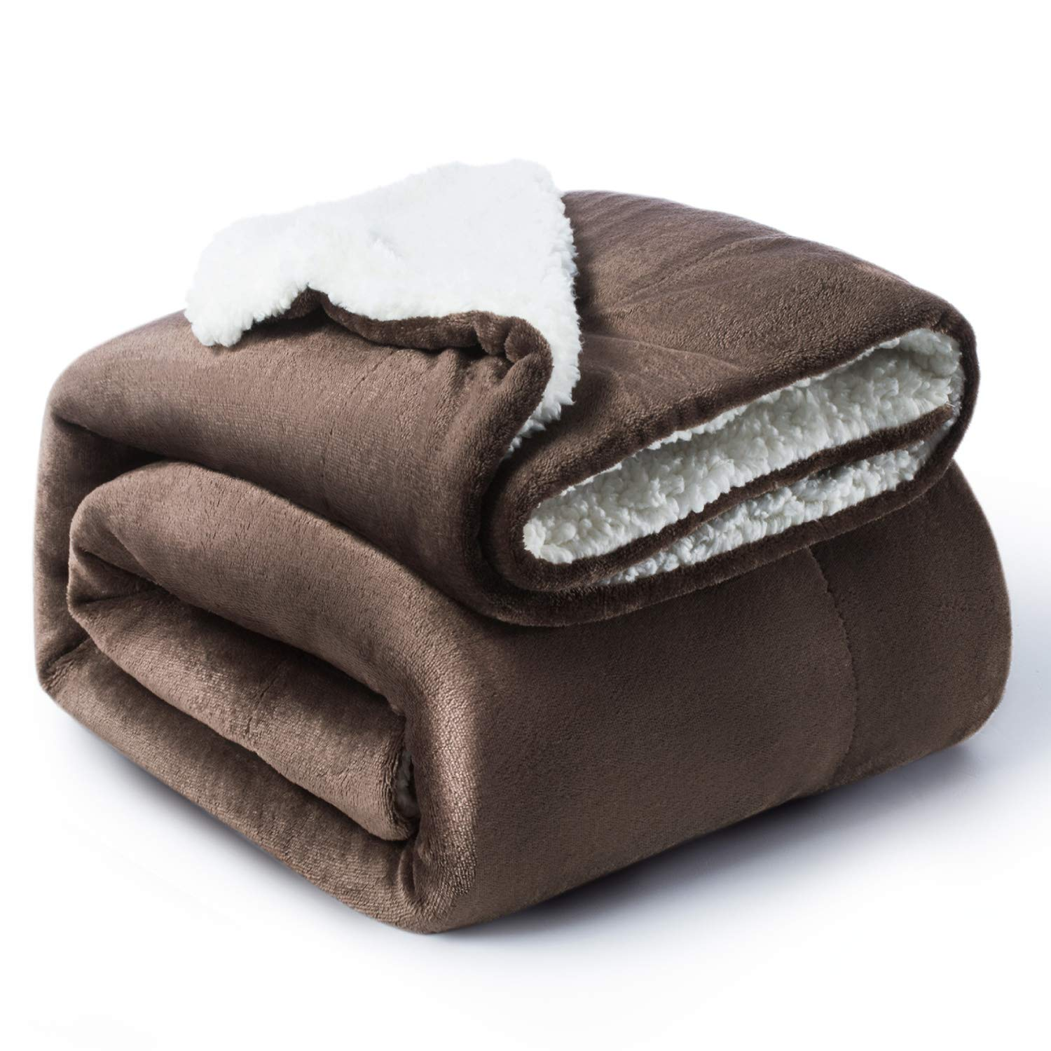 Buy Bedsure Sherpa Blanket Throw Blankets Bed Blankets Soft Cozy And Warm Reversible Textured Fuzzy 60 X 80 Brown Online At Low Prices In India Amazon In