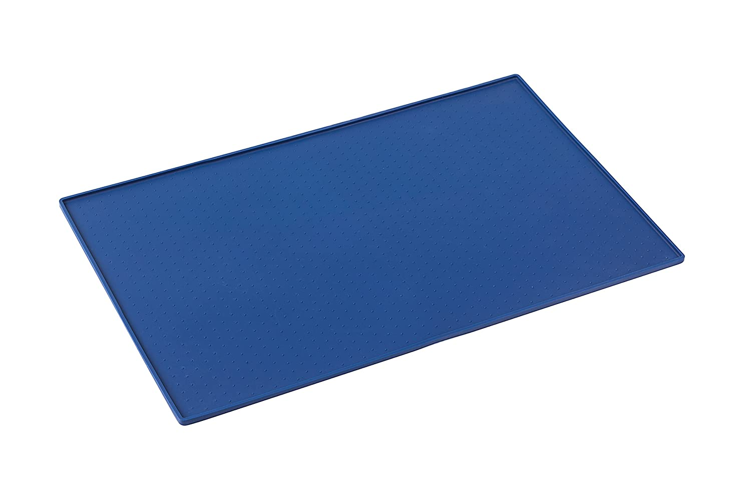 Snug Pet Feeding Mat for Dog and Cat In Premium Food Grade Silicone - XL Size 24 x 16 (Blue) SGPFMBLXL