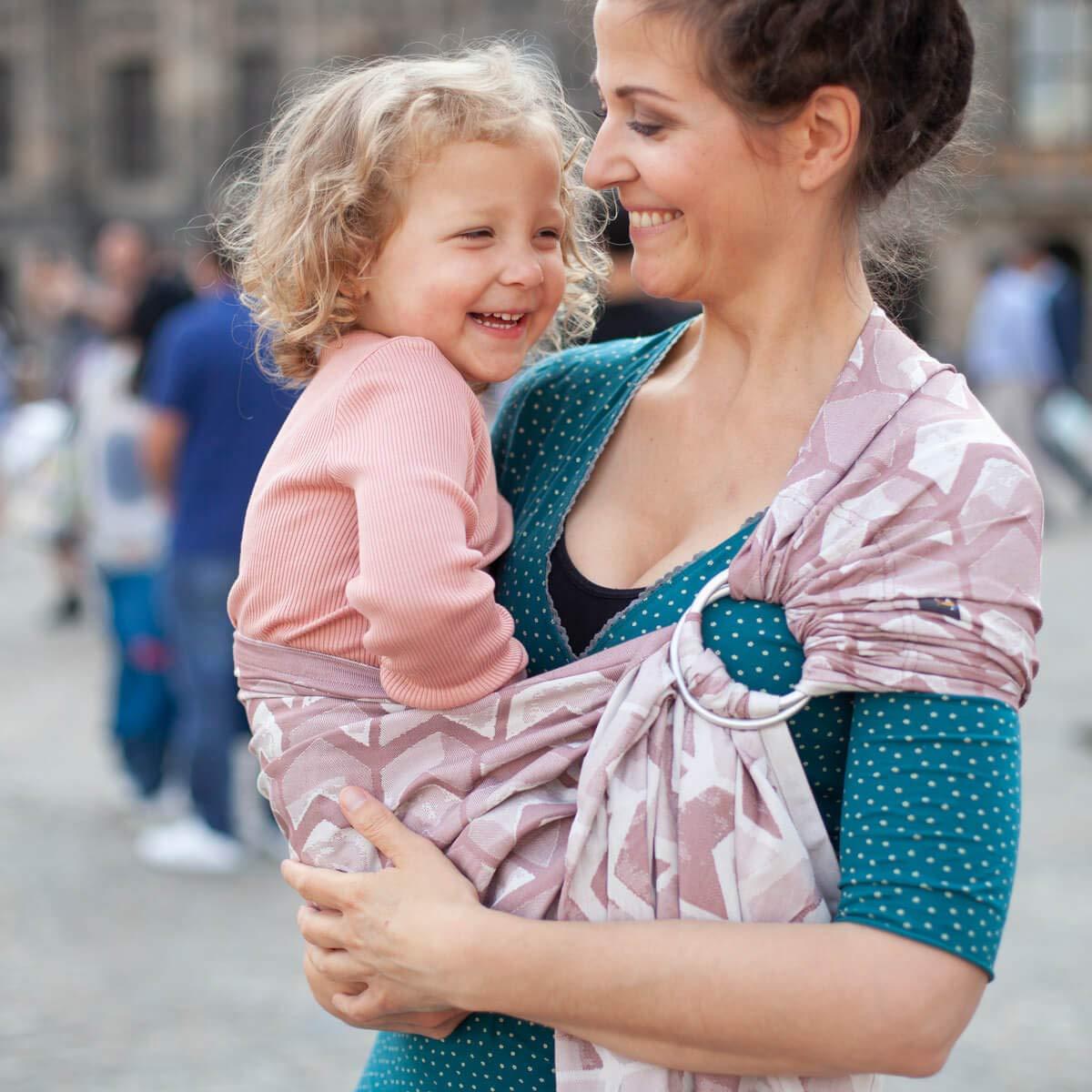 HOPPEDIZ r-j-ams-ros Ring-Sling Amsterdam rosa