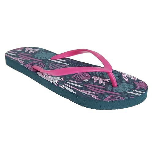 Sand Rocks Womens Ladies Cacti Flip Flops (5 6 US) (Navy 635202f82