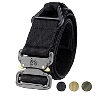 """Faylife Tactical Belts, 1.75""""Rigger's Belt Military Style Adjustable Valcro Nylon Belts with Heavy Duty Quick Release Buckle"""