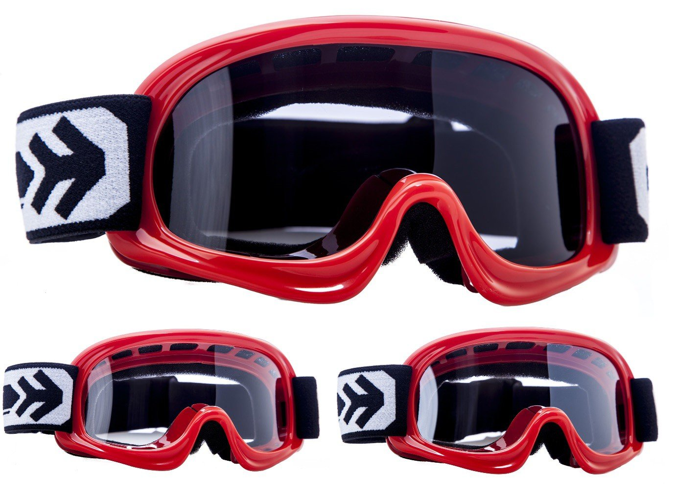 "red Black // Silver // Clear Armor /· AG-49 /""Red/"" /· Cross Enfant /· Cross Lunettes de Protection Masques de Moto Moto MX Windproof Ski /·"