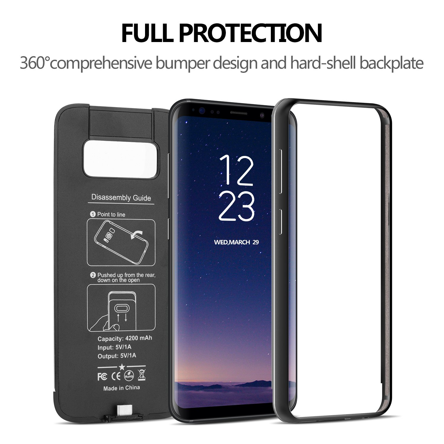 battery case for samsung s8