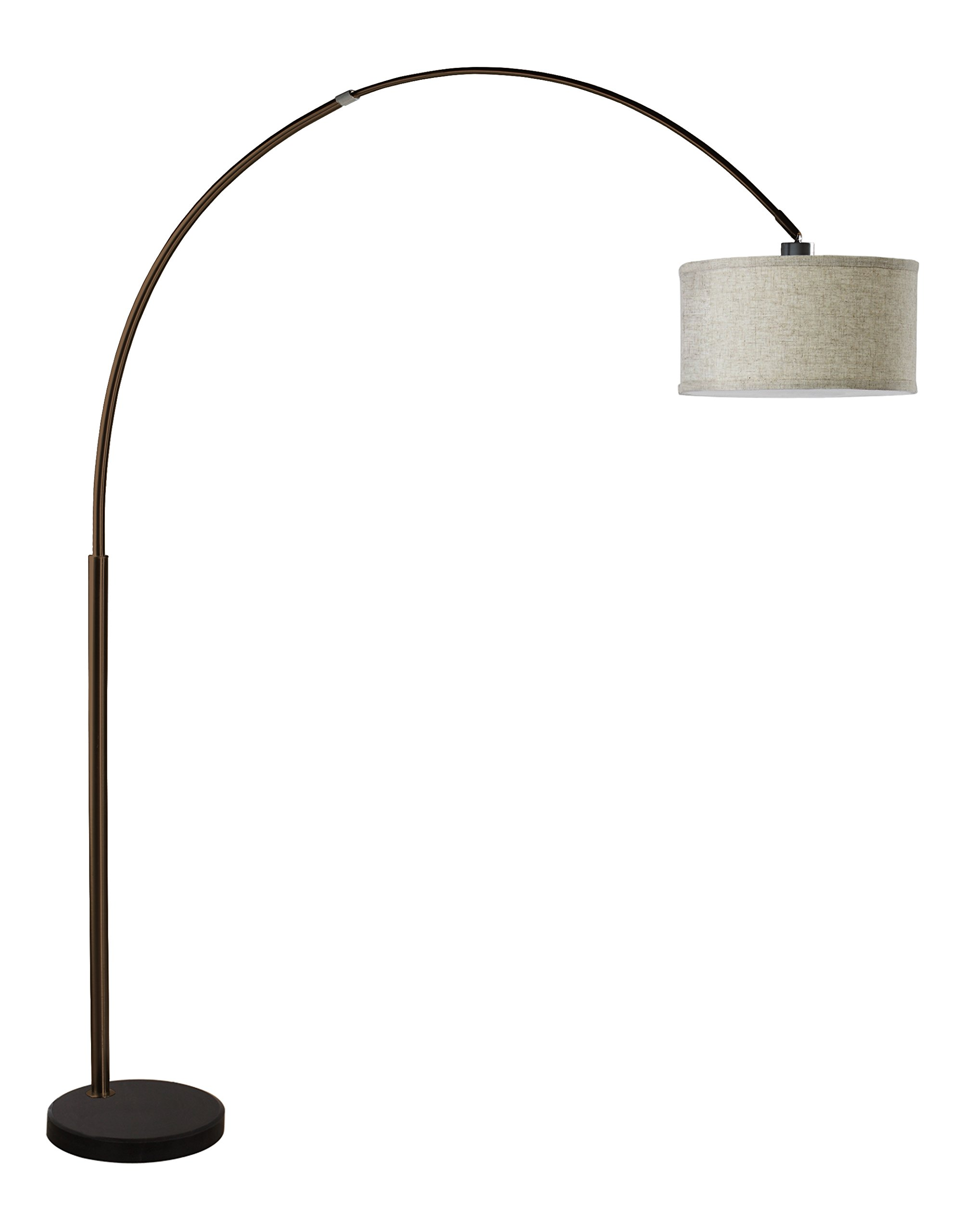SH Lighting 6938ES-XL 81'' H Steel Adjustable Arching Floor Lamp with Marble Base, Espresso