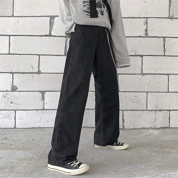 メンズ デニムパンツ ゆったり バギーパンツ カーゴパンツ 大きいサイズ ヒップホップ デニム S M L XL (Color : グレー, Size : L)