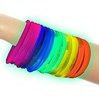 100 Pulseras luminosas glow pack multicolor ENTREGA 1-3 DÍAS