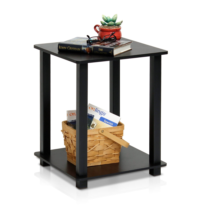 amazon com furinno 12127ex bk simplistic end table espresso