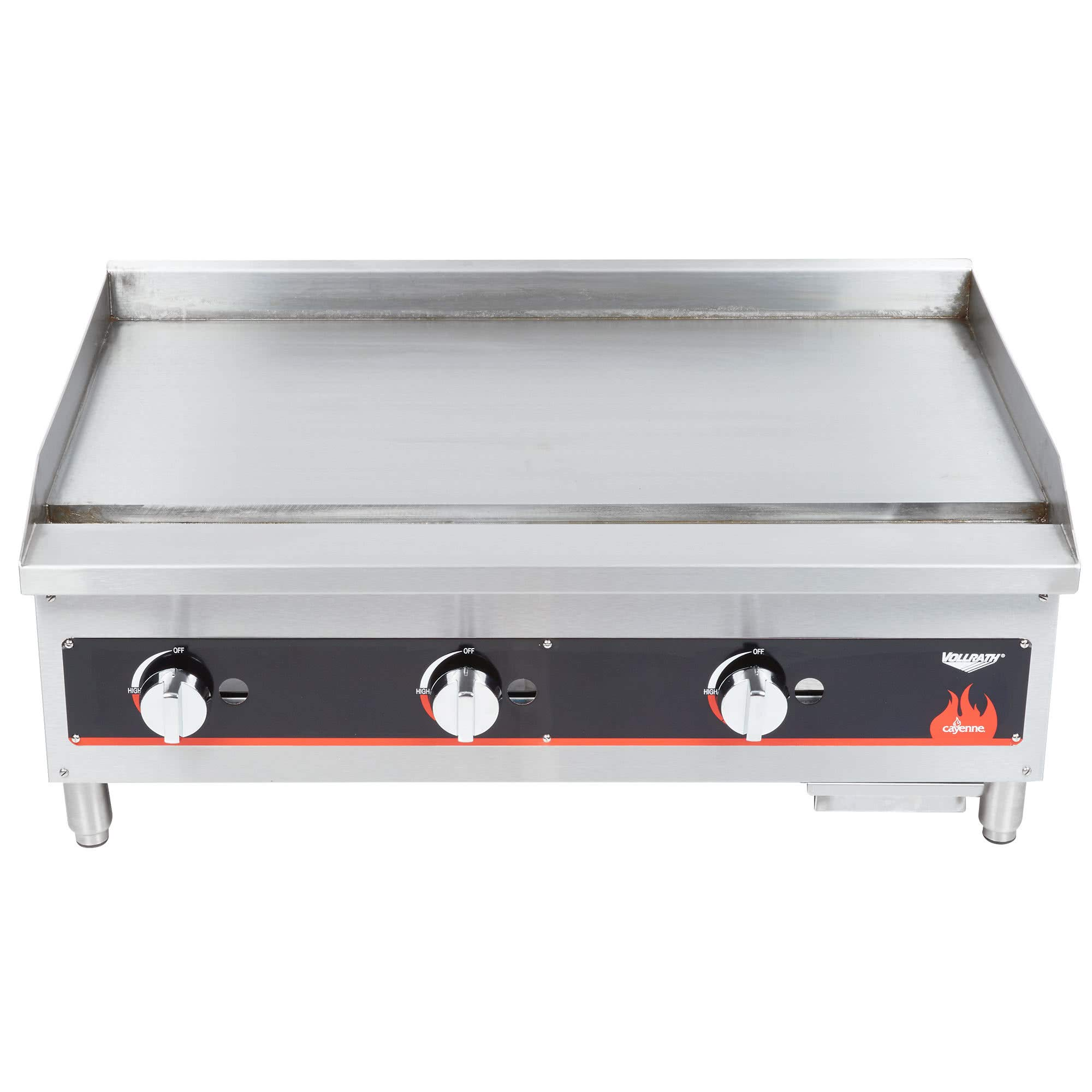 TableTop King 40721 Cayenne 36'' Flat Top Gas Countertop Griddle - Manual Control