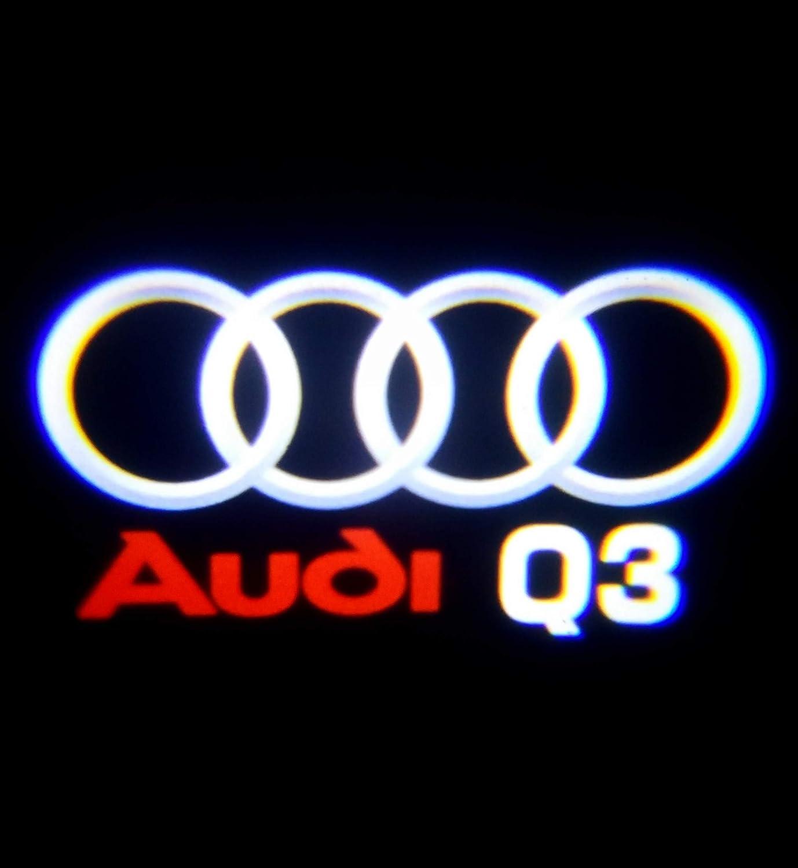 Led logo proyector puerta luz Q3: Amazon.es: Coche y moto