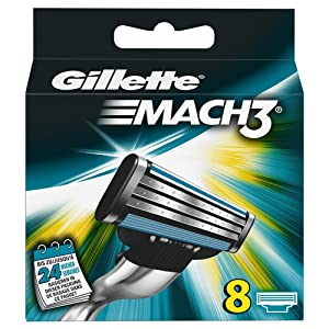 Gillette Mach 3 Manual Razor Blades 8 pack