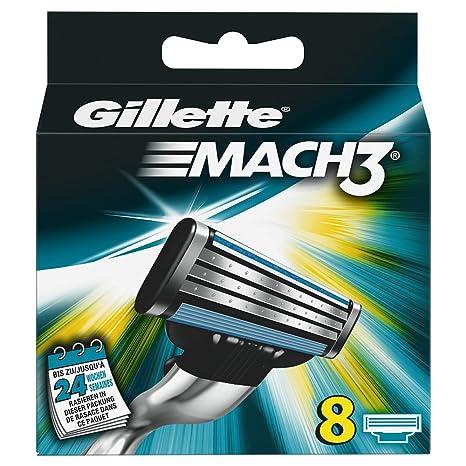 Gillette MACH3 Cuchillas, 8 unidades: Amazon.es: Salud y cuidado personal